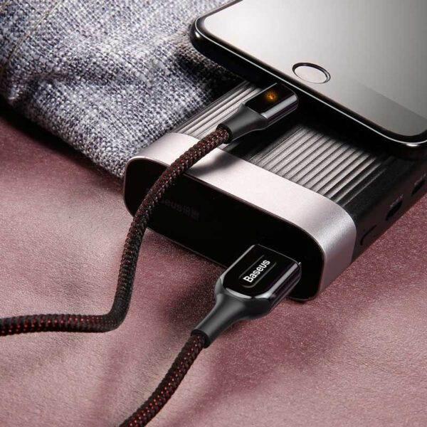 خرید عمده کابل آیفون بیسوس شارژ سریع X-Type