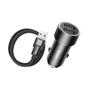 شارژر فندکی بیسوس Small Screw + کابل همراه