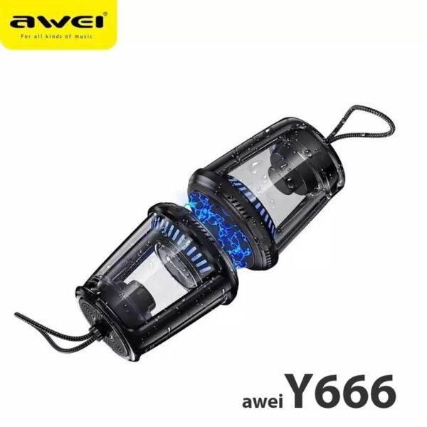 خرید اسپیکر بلوتوث فانوسی ضد آب Awei Y666
