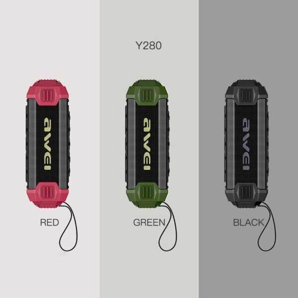 خرید اسپیکر بلوتوث + پاوربانک Awei Y280
