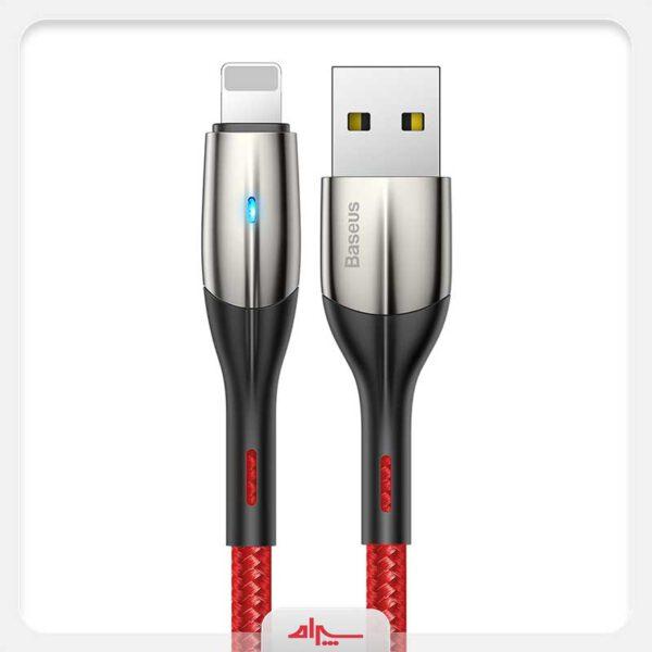 واردات کابل شارژ آیفون بیسوس مدل Horziontal Data Cable