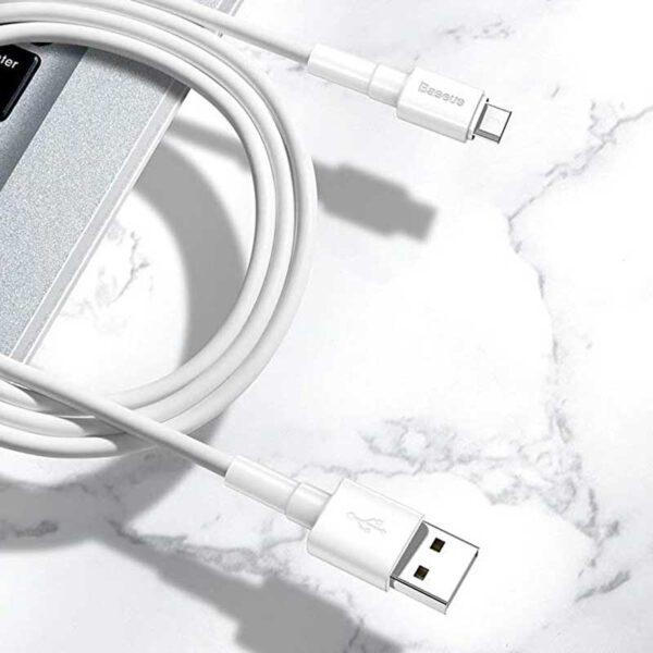 واردات کابل شارژ میکرو یو اس بی بیسوس مدل Mini White