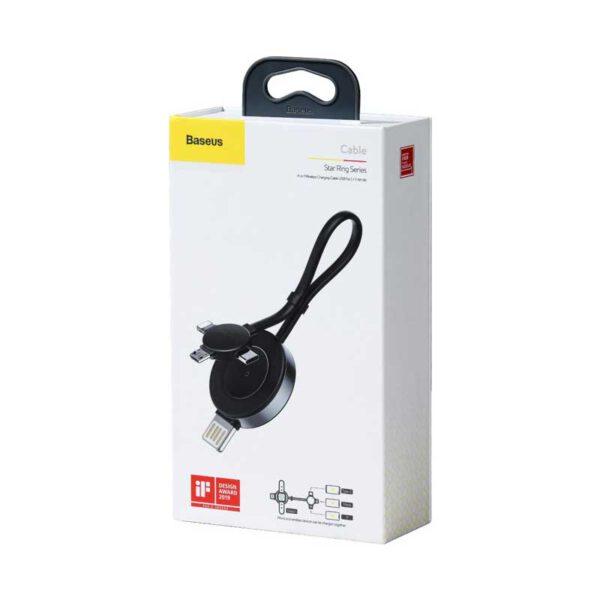 واردات عمده کابل شارژ چهار کاره بیسوس مدل Star Ring
