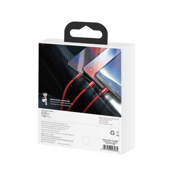 واردات کابل شارژ سه کاره بیسوس مدل Car Co-Sharing