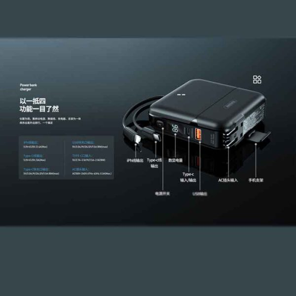 خرید عمده پاوربانک ریمکس 15000 میلی آمپر مدل RPP-20