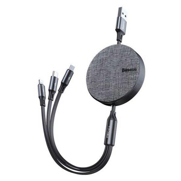 خرید کابل شارژ سه کاره بیسوس مدل Fabric