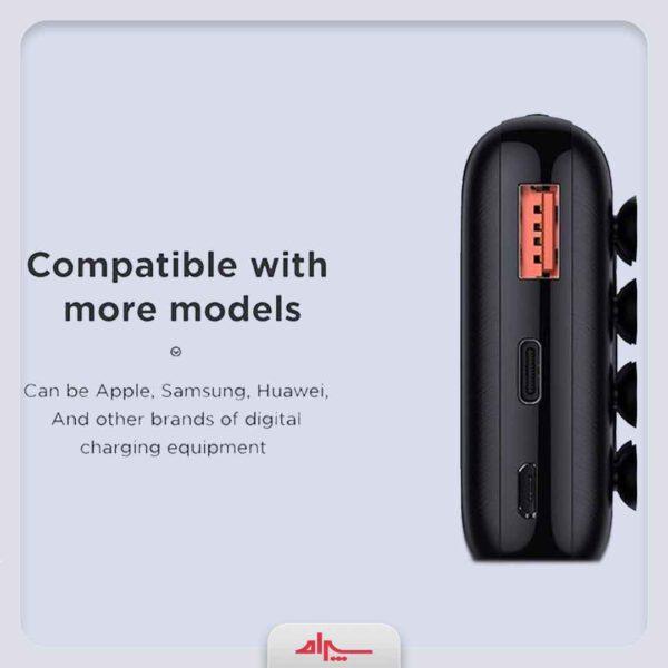 فروش عمده پاوربانک 10000میلیآمپرساعت جویروم مدل D-QP183-15W