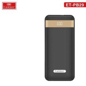 فروش عمده پاوربانک ارلدام مدل ET-PB29 1000mAh