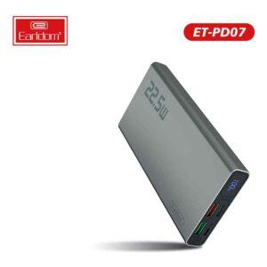 خرید عمده پاوربانک ارلدام مدل ET-PD07 10000mAh
