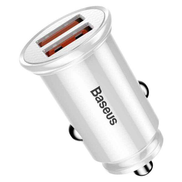 خرید شارژر فندکی دوگانه بیسوس مدل Circular BC-C16Q1
