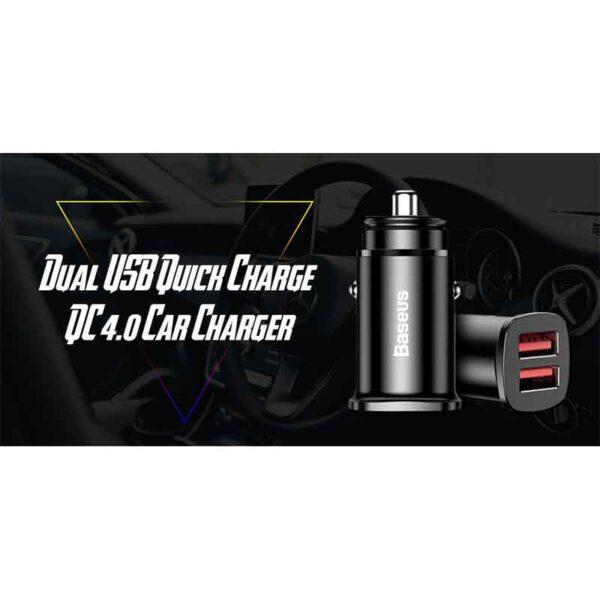 خرید عمده شارژر فندکی دوگانه بیسوس مدل Square BC-C16C