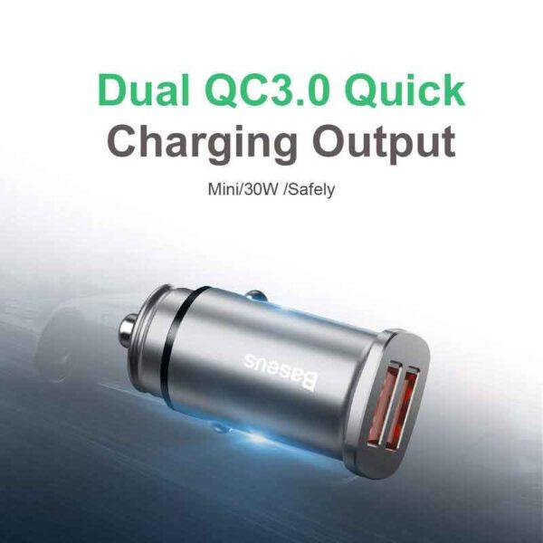 واردات شارژر فندکی دوگانه بیسوس مدل Square BC-C16C