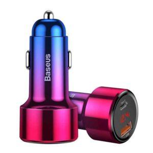 واردات شارژر فندکی دوگانه بیسوس مدل Magic Series PPS BS-C20C