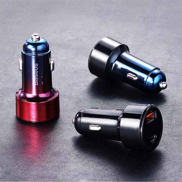 خرید شارژر فندکی دوگانه بیسوس مدل Magic Series PPS BS-C20C