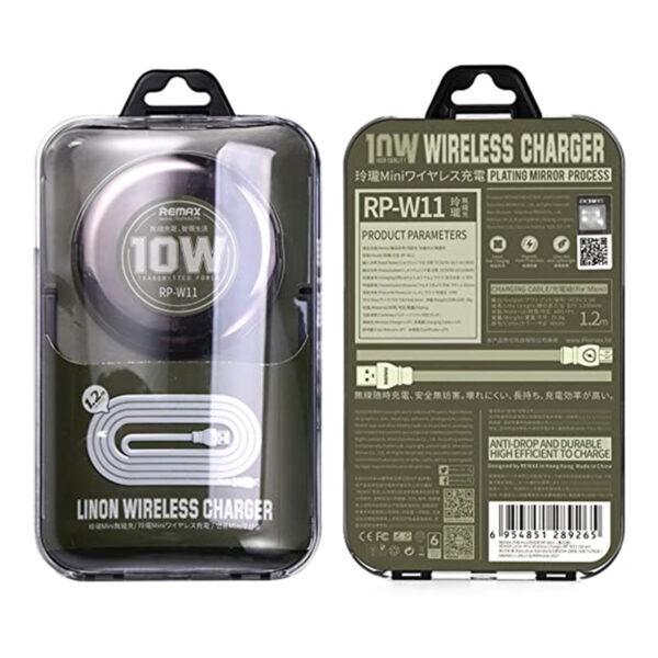 خرید عمده شارژر بی سیم ریمکس مدل RP-W11