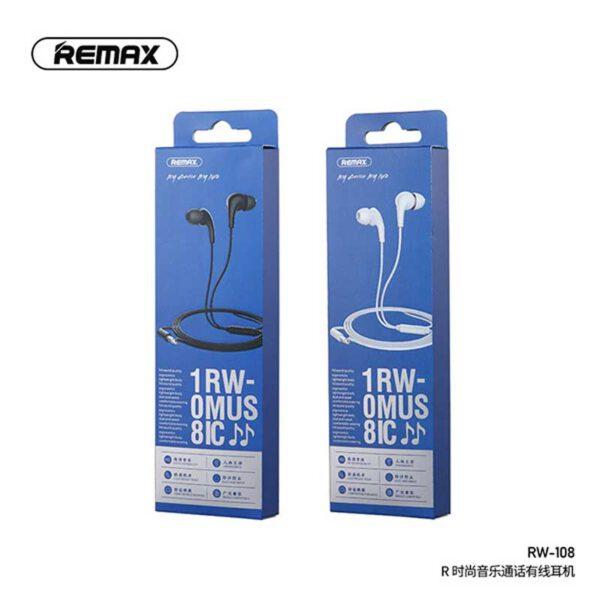 قیمت هندزفری سیمی ریمکس مدل RW-108