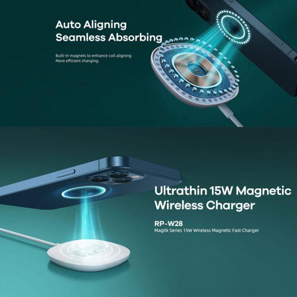 واردات شارژر بیسیم ریمکس مدل Magnetic RP-W28