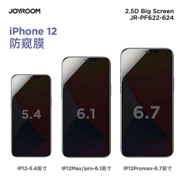 خرید عمده گلس تمام صفحه 2.5D (Privacy) جویروم مدل JR-PF622